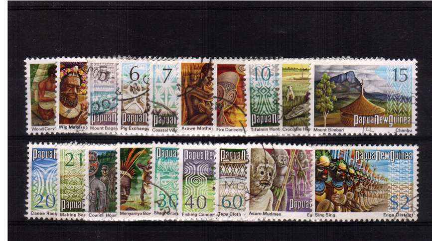 A superb fine used set of nineteen.