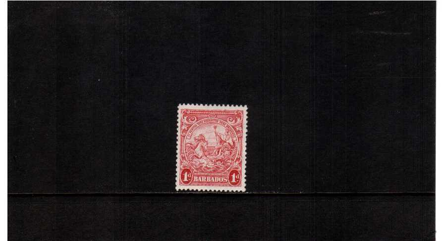 1d Scarlet, the scarce perforation 13絰13 superb very lightly mounted mint stamp with just a trace of a hinge. Scarce stamp. SG Cat �5