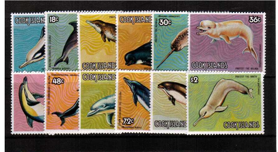 The Whales set of twelve superb unmounted mint.