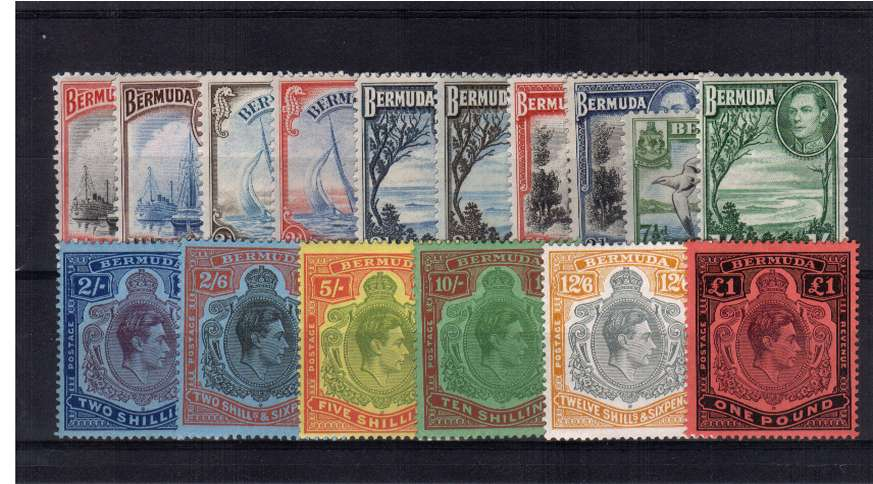 The complete set of sixteen superb unmounted mint.<br/>SG Cat �0.00
