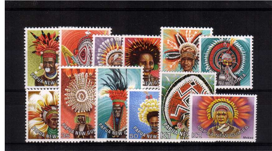 The ''Headdresses'' set of twelve superb unmounted mint.