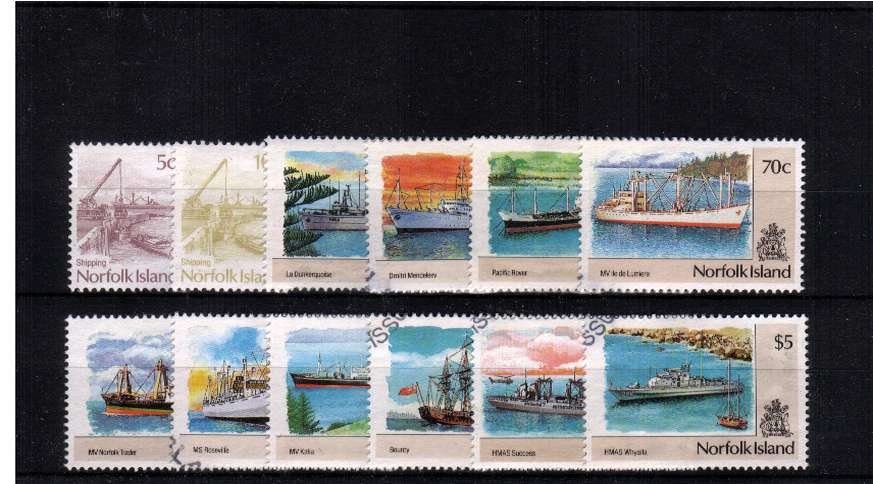 Ships - A superb fine used set of twelve.