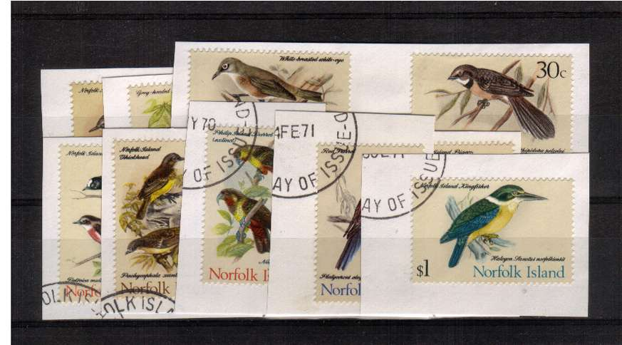 A superb fine used set of fifteen all on piece from First Day Cover.