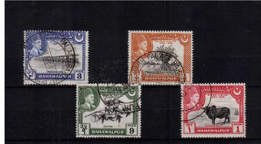 Superb fine used set of four cancelled with a double ring CDS on the first day of issue