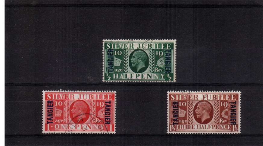 Silver Jubilee set of three superb fine used.<br/><b>SEARCH CODE: 1935JUBILEE</b><br/><b>QFX</b>