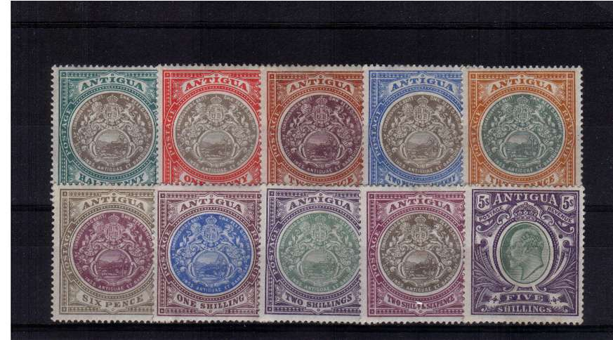 A fine lightly mounted mint set of ten in above average condition! A bright and fresh set.
