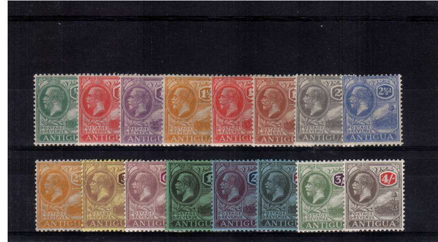 A fine lightly mounted mint set of sixteen.