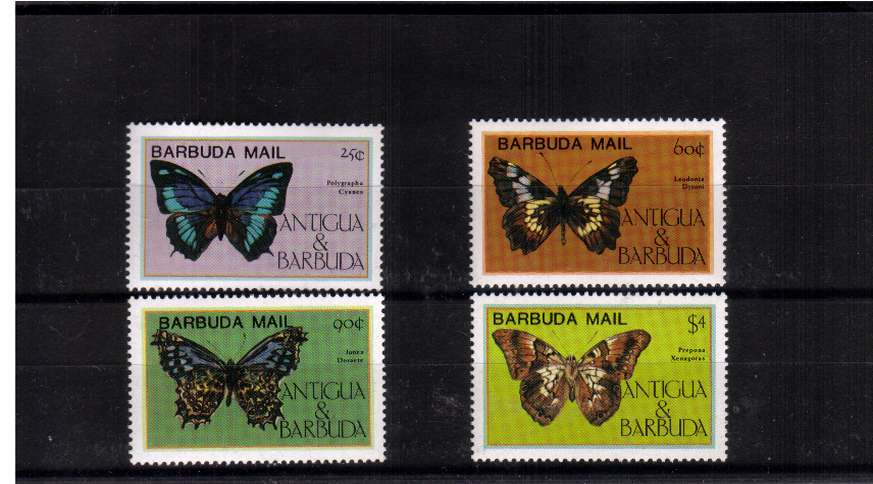 The scarce Butterflies set of four superb unmounted mint