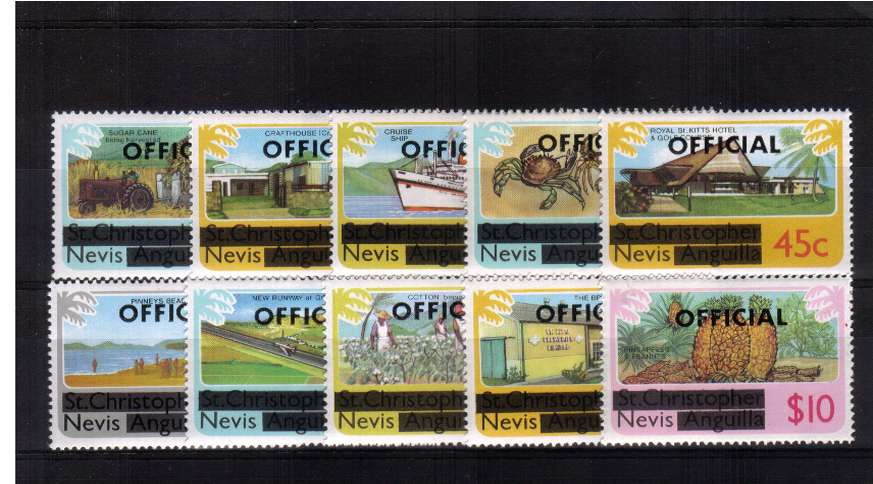 OFFICIALS - set of ten superb unmounted mint.