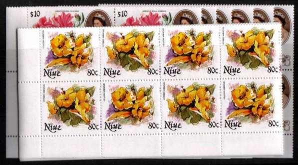 Flowers set of thirty in superb unmounted mint corner blocks of four.