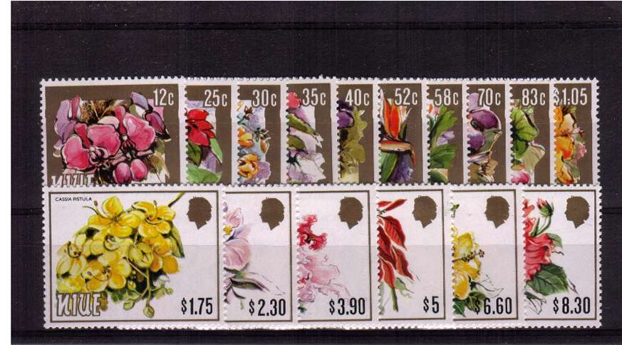 The Flowers set of sixteen superb unmounted mint. 