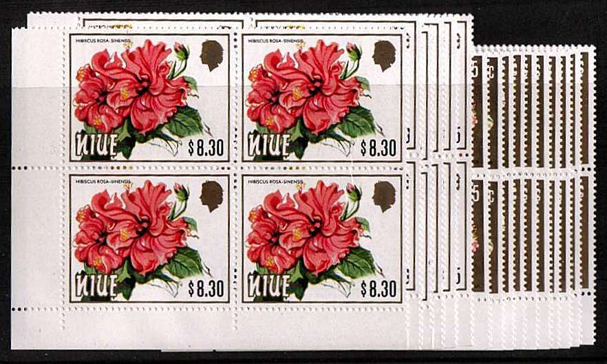 The Flowers set of sixteen in superb unmounted mint SW corner blocks of four.