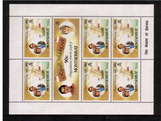 Charles & Diana Royal Wedding sheetlet with INVERTED WATERMARK superb unmounted mint. SG Cat �