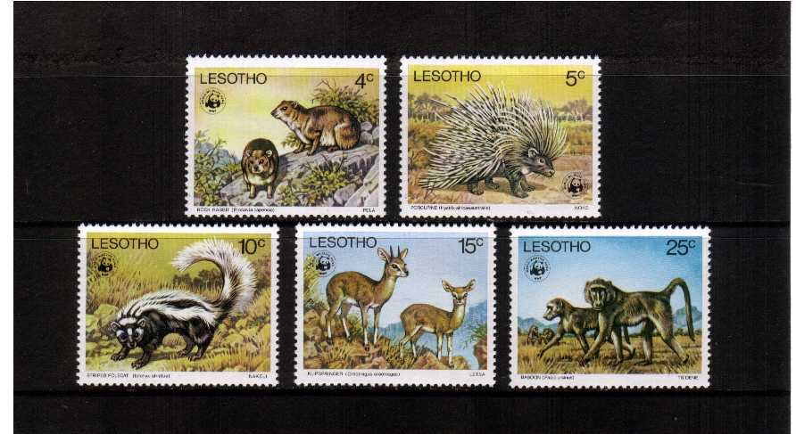 wwf - Endangered Species set of five superb unmounted mint