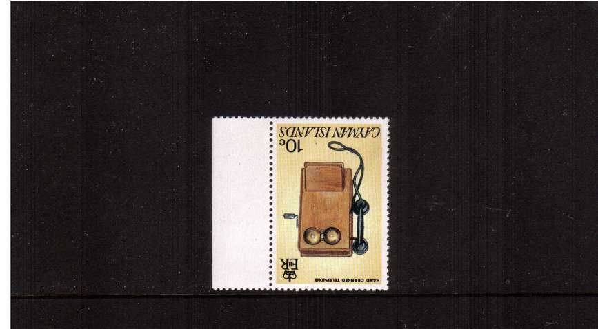 50th Anniversary of Telecommunications 10c marginal single with WATERMARK INVERTED superb unmounted mint.