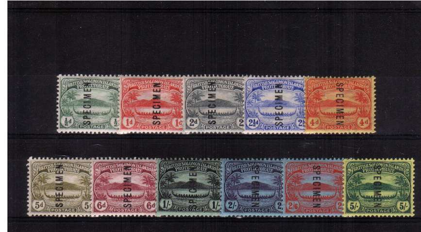 A very fine and fresh set of eleven overprinted ''SPECIMEN'' lightly mounted mint. Pretty!