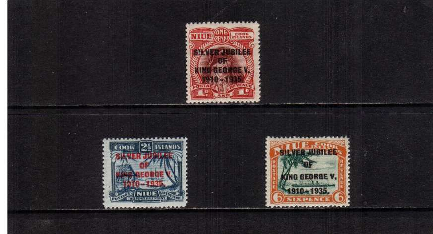 Silver Jubilee set of three superb unmounted mint.<br/><b>SEARCH CODE: 1935JUBILEE</b><br><b>XYX</b>
