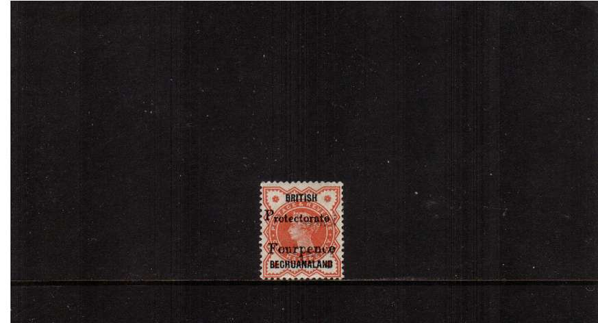 4d on ½d Vermilion lightly mounted mint. 