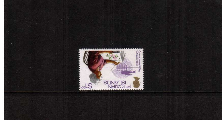 $1.20 Commonwealth Day single superb unmounted mint showing INVERTED WATERMARK<br/><b>ZQA</b>