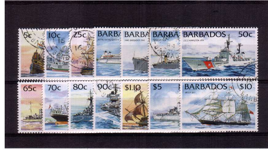 The ships set - without Imprint - set of fourtenn superb fine used