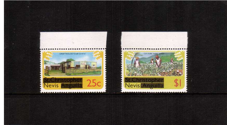 The no watermark set of two with top margins superb unmounted mint.