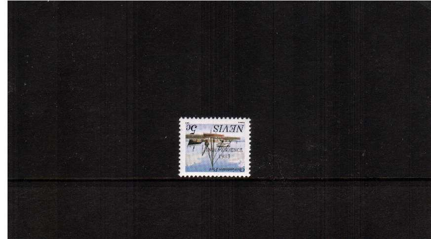 The ''INDEPENDENCE 1983'' overprint on 5c with imprint at foot<br/>showing INVERTED OVERPRINT superb unmounted mint.