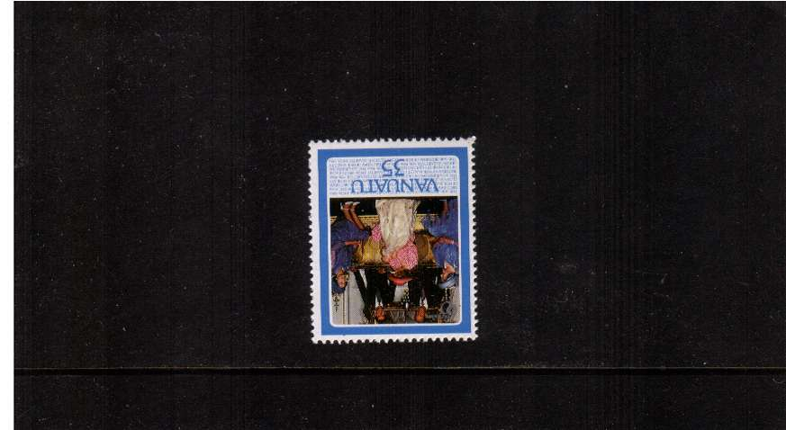Queen's Birthday 35v value - INVERTED WATERMARK superb unmounted mint.