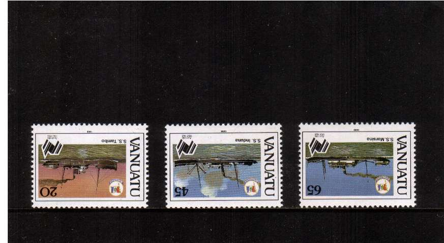 Settlement set three with INVERTED WATERMARKS superb unmounted mint