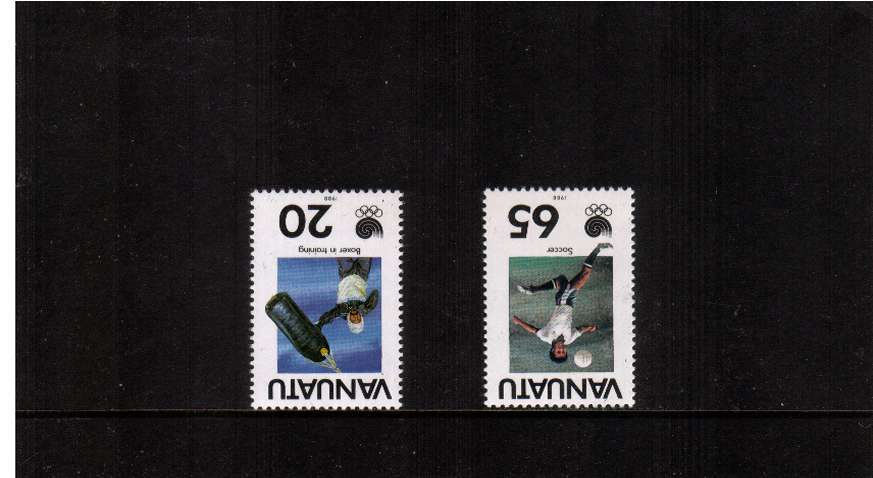Olympics set of two with INVERTED WATERMARKS superb unmounted mint.