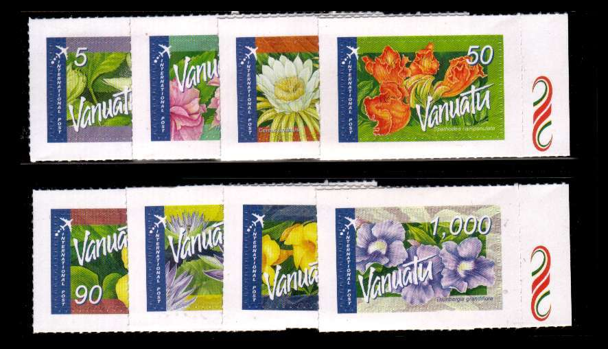 Flowers self adhesive definitive AIRMAIL set of eight superb unmounted mint.