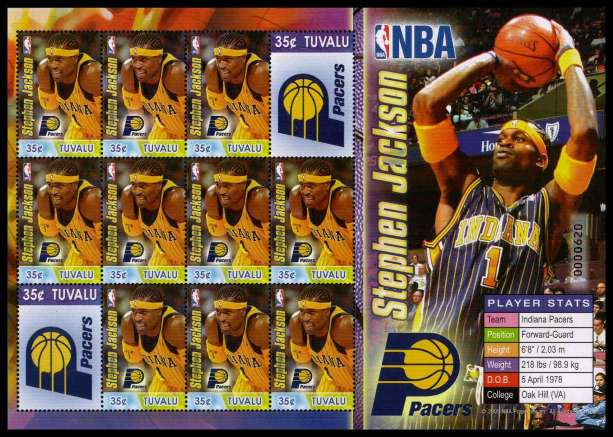 NBA - Basket Ball set of six sheetlets superb unmounted mint.<br/><b>ZQC</b>