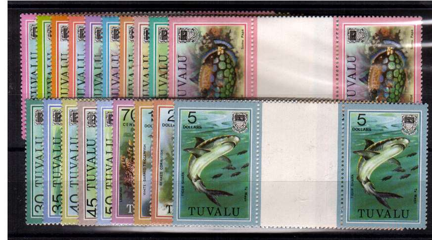 Fish - superb unmounted mint set of nineteen in gutterr pairs.