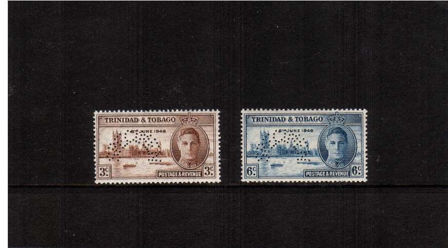 The Victory set of two perfined ''SPECIMEN'' very lightly mounted mint. SG Cat �