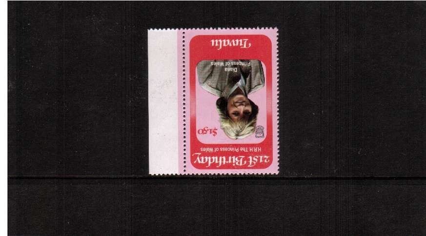 21st Birthday of Princess of Wales $1.50 right side single with INVERTED WATERMARK superb unmounted mint.
