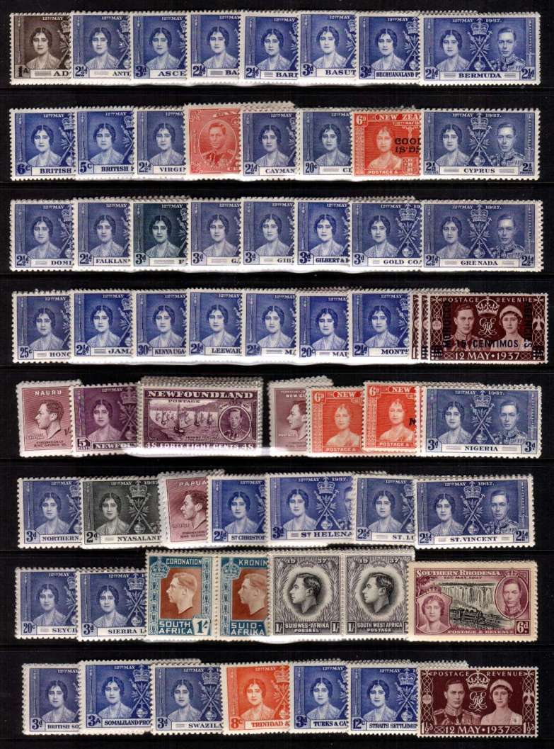 The Coronation complete omnibus set of 202 stamps superb unmounted mint.<br/><b>UFU</b>