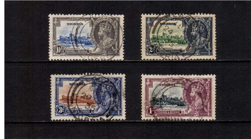 Silver Jubilee set of four superb fine used.