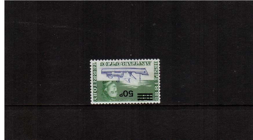50p on 50p Decimal Currency overprint single with INVERTED WATERMARK<br/>