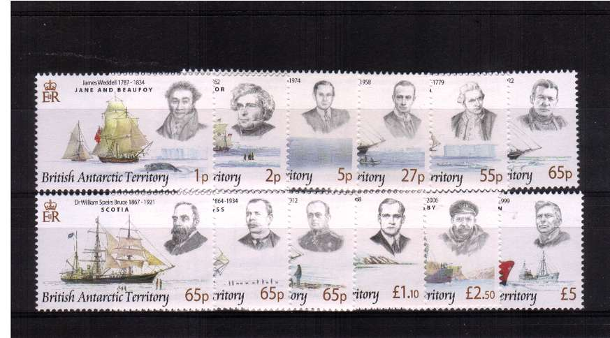 Ships and Explorers definitive set of twelve superb unmounted mint.