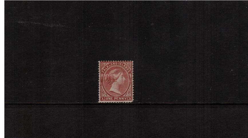 1d Claret - with No Watermark. A fresh looking mounted mint<br/>stamp with a possible ''rounded corner''!! SG Cat £750