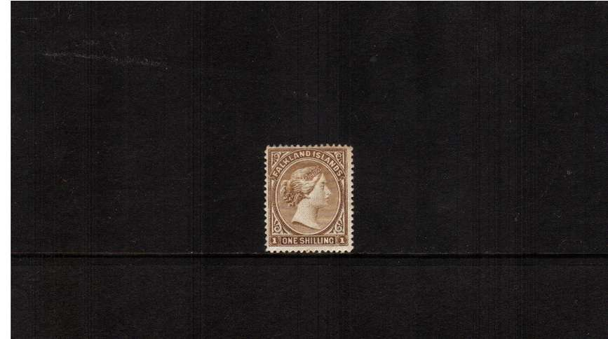 1/- Yellow-Brown. A good mounted mint single.