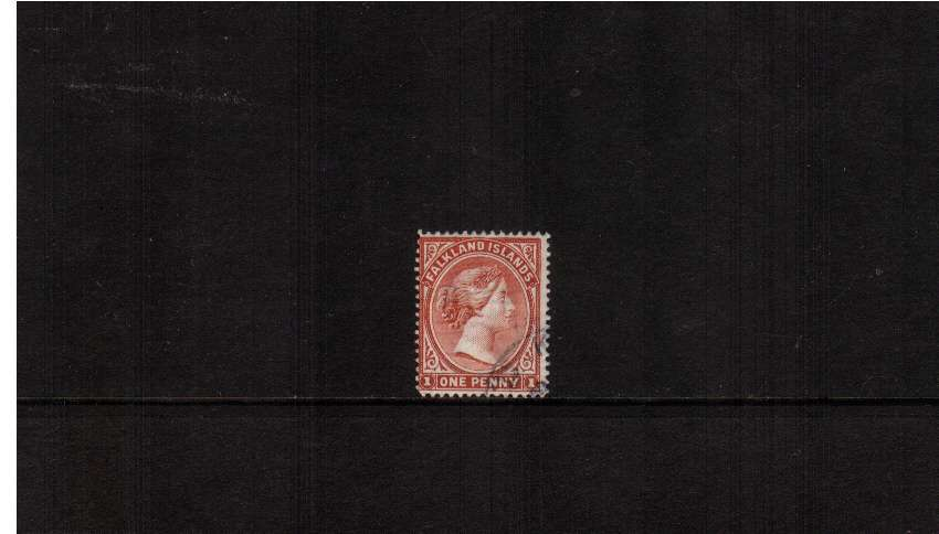 1d Pale Red with WATERMARK REVERSED. A very fine used example. SG Cat £375