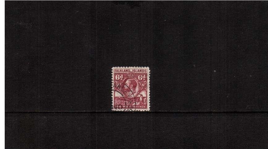 ''Penguin & Whale''  6d Reddish Purple  - Line Perforation<br/>A superb fine used stamp.