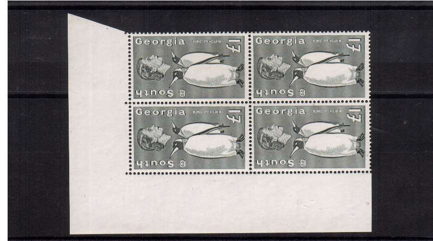 �Penguin definitive odd value in a superb unmounted mint NW corner block of four.<br/><b>ZQF</b>