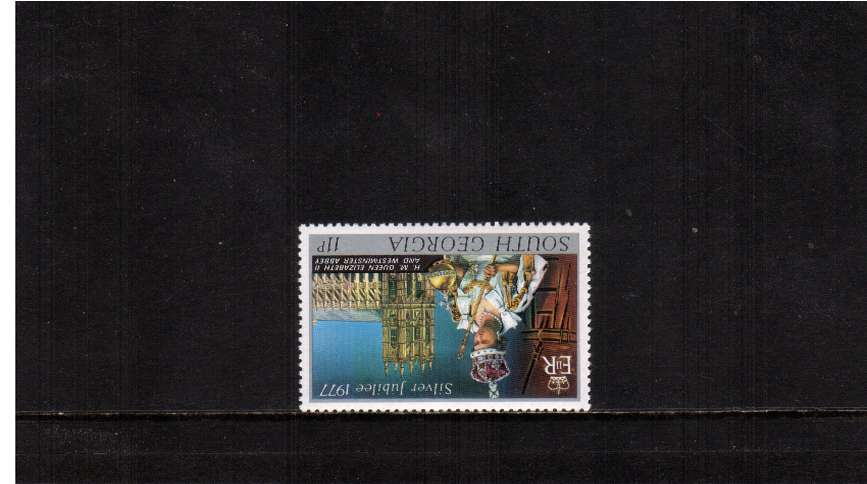 The Silver Jubilee 11p stamp superb unmounted mint<br/>with INVERTED WATERMARK.