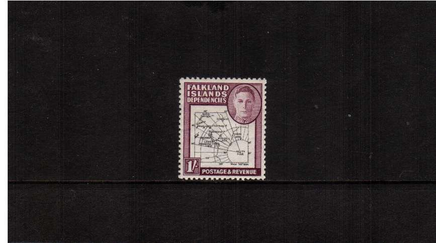 1/- Black and Purple - Thick Map<br/>