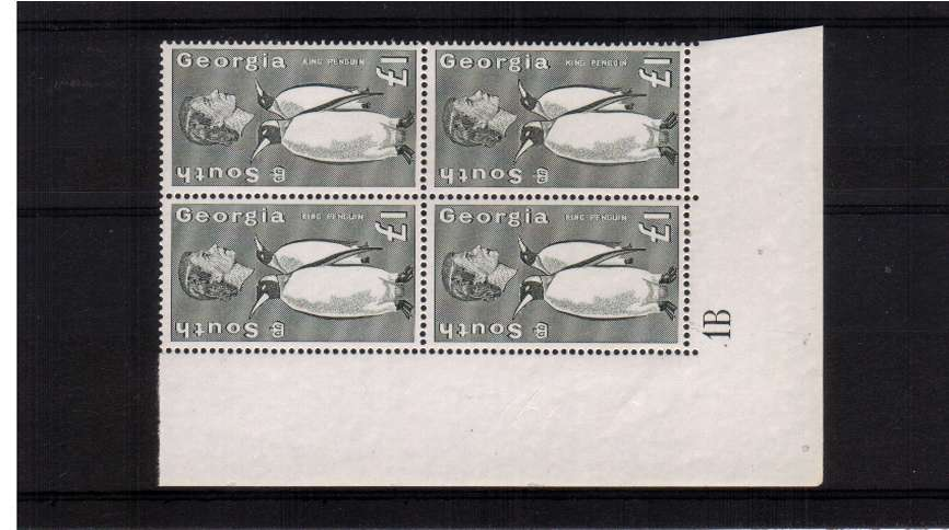 �Penguin definitive odd value in a superb unmounted<br/>mint cylinder block of four.
