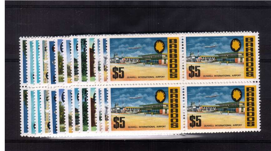 The Block watermark set of thirteen in superb unmounted mint blocks of four.<br/><b>ZQH</b>