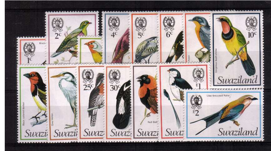Birds - Superb unmounted mint set of fifteen.