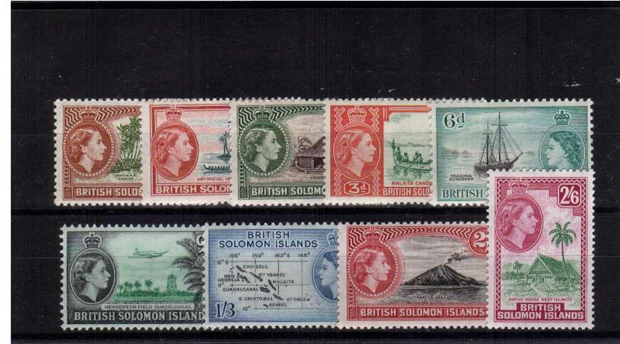 The Block watermark set of nine superb unmounted mint.<br><b>QRQ</b>