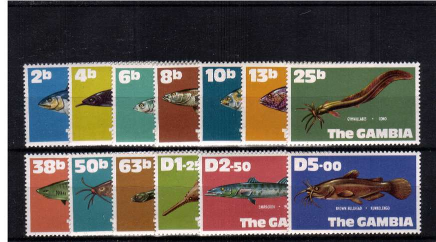 The New Currency - Fishes set of thirteen superb unmounted mint.